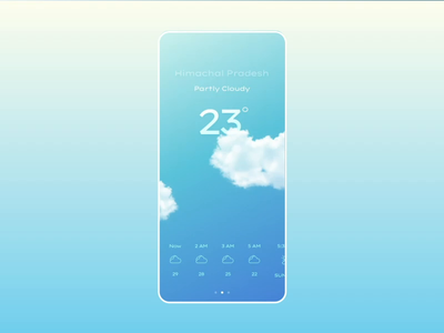 Weather Forecast Mobile App Animation animation after effects weather app gradient design interaction ui app ux