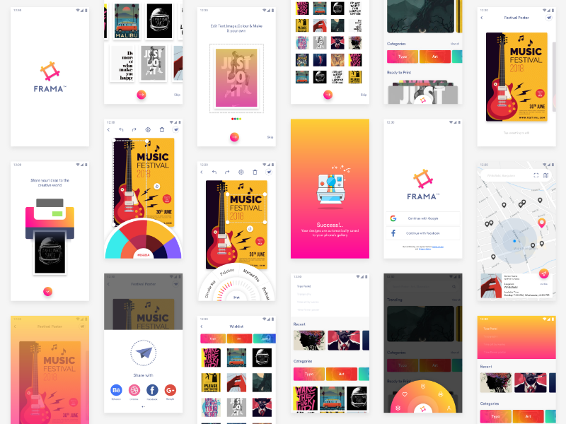 App for poster creation 1