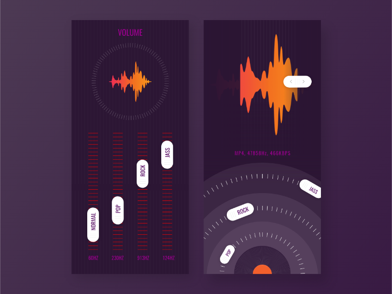 Music Equalizer UI by sakin kumar on Dribbble