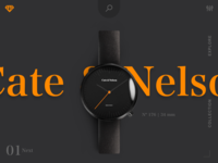 landing page for watch Ecommerce