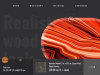Landing Page Design Wood Sale