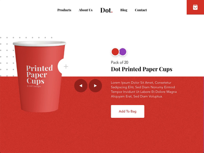 Checkout page - Product page Animation