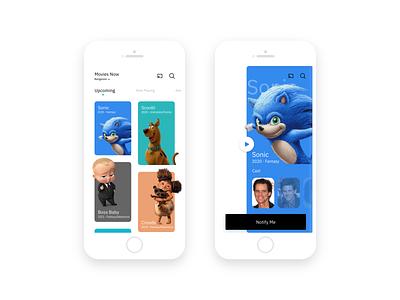 Movie app UI/UX - Inspiration design movie mobile xddailychallenge xd design free resource auto animate adobe xd ios app movie app cards ui ux app