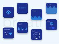 Meditation - Breathe Smart watch app UI/UX #Adobe Xd