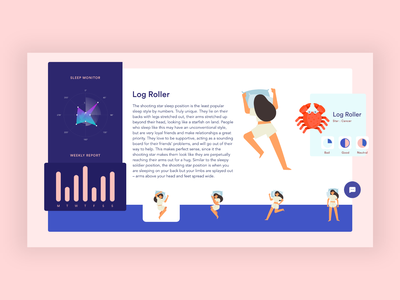 Sleep Fact   Dashboard Animation interactions page website app ux
