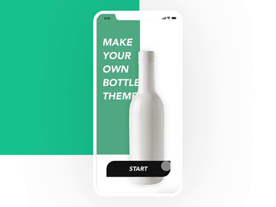 Bottle Graphic editing mobile app UI UX