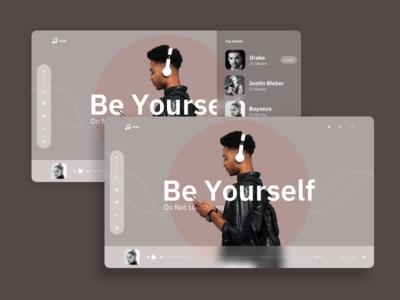 Music Broadcast Landing page UI/UX Inspiration