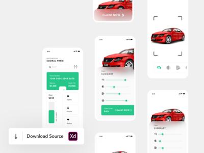 Car Insurance Policy Claim AR UI/UX Animation