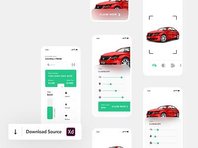Car Insurance Policy Claim AR UI/UX Animation interaction design interactive interaction accident car policy policy insurance claim insurance app insurance car interface car insurance ui app ux