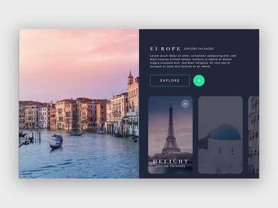 Travel Agency website Interaction UI/UX