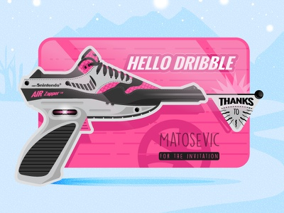 Hello Driblle This is my First Shot  sneakers illustration welcome players debuts shot