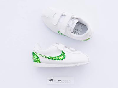 🌴 Tropical Baby Cortez baby sneakers custom