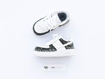 🌚 Baby Tropical Galaxy 🌚 vegetal moon airforce nike larotouche baby sneakers custom