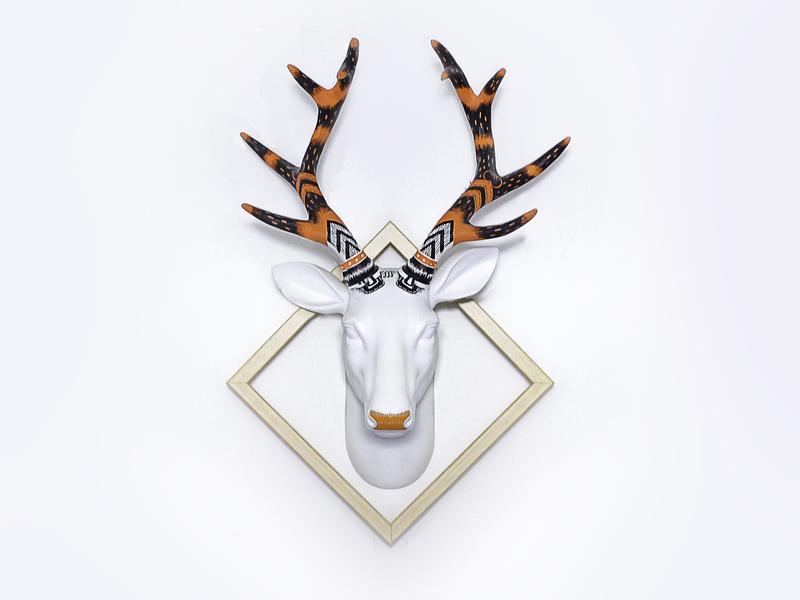 Dear my Deer art handmade christmas deer posca acrylic