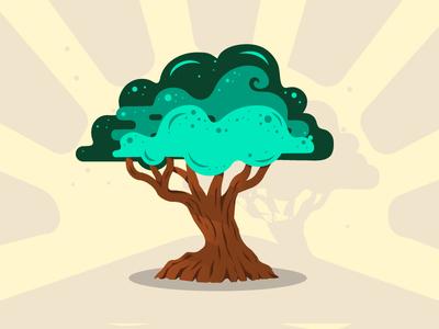 Big Tree - Family Tree Project illustrator flat icon big tree tree