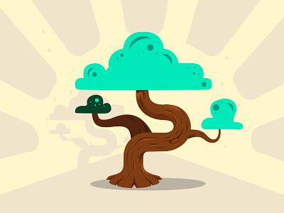 Bonzaï Flat Design - Family Tree Project tree project startup illustrator flatdesign bonzaï