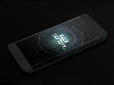 Hack the city - loading screen hacker sci-fi loading screen hack the city mobile game