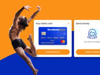 Mobile bank widget