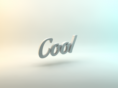 3D rendered text lightbox cool typography 3d