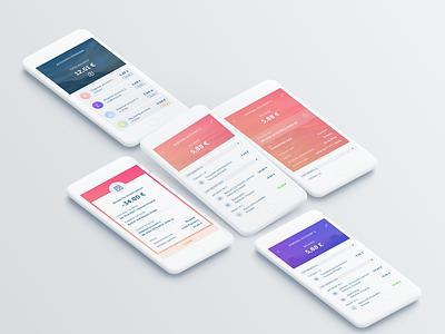 Finance app concept gradient flat  design mobile app experience mobile app design app concept concept finance app