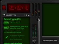 Control panel, game UI