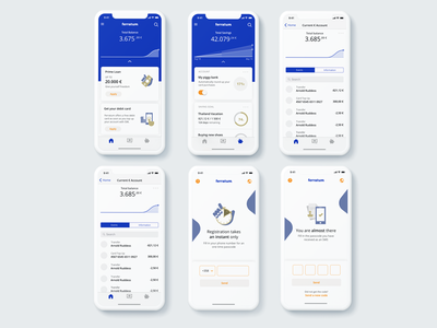 Ferratum Mobile Bank design concept mobile wallet banking app ferratum clean app design personal finance app concept mobile banking finance app mobile bank