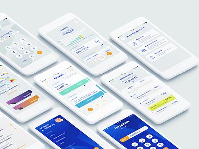Ferratum Prime saving account account transaction payment cash banking app personal finance management mobile app pastel color flat design ui ferratum finance app
