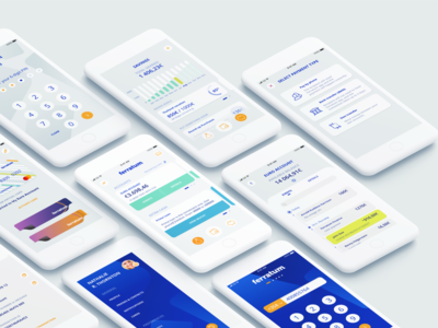 Ferratum Prime saving account account transaction payment cash banking app personal finance management mobile app pastel color flat design ui ferratum finance app