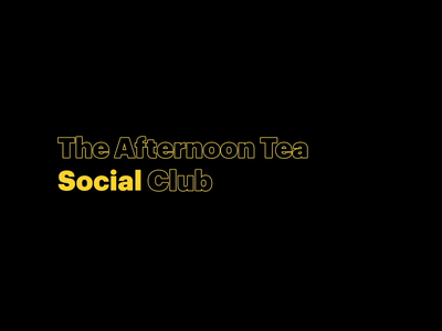 The Afternoon Tea Social Club motion design typography animation typogaphy clean after effect flat motion graphics animation