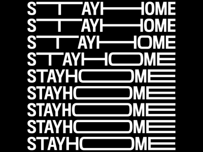 Stay home: flex flexible stayhome kinetictypography covid19 clean blackandwhite motion design loop flat after effect motion graphics animation