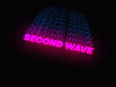 Stay home: second wave wave vhs 80s style stayhome typography staysafe kinetictypography covid19 motion design loop after effect motion graphics animation