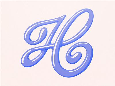 H — Animated Letter illustration letter caligraphy logo type script typography font liquid motion breakdown motion design flat minimal lettering h design after effects animation 2d