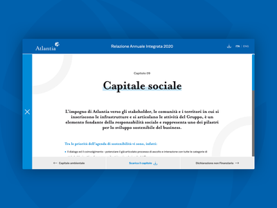 Atlantia Relazione Annuale Integrata 2020 sustainability report financial report annual report company website web design ui design ui visual design lets play