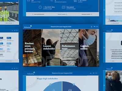 Atlantia Relazione Annuale Integrata 2020 sustainability report financial report annual report web design website company ui ui design visual design lets play