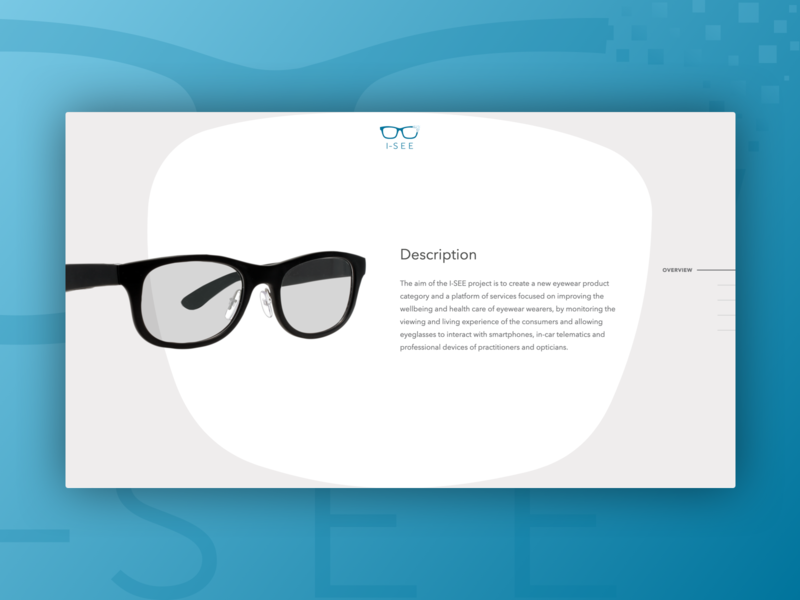 I-SEE lets play single page web design visual design ui design ui