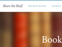 Share the Shelf - Navigation