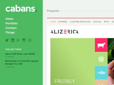 WIP - New portfolio concept homepage home portfolio project sidebar flat