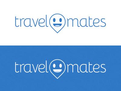 Travel Mates WIP logo travel marker map smile face geo