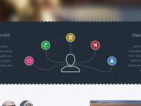 Landing homepage detail WIP