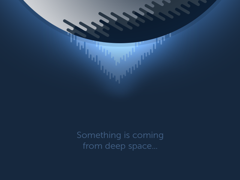 Something is coming... gradients flat cosmos spacenomads planet space