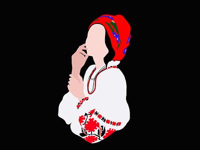 Ukrainian traditional clothes national clothes traditional illustration dark red girl illustration girl character ua ukrainian traditions national traditional art styling stylish color illustartion procreate illustartion colors color character ukrainian ukraine