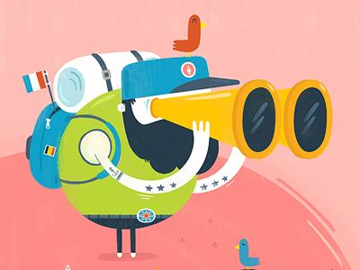 How Magazine – Global Buzz illustration travel global design birds beards hipsters