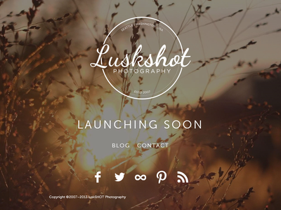 luskSHOT Landing Page photography web site landing page