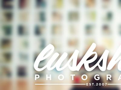 luskSHOT Photography (2013) branding identity new look web site