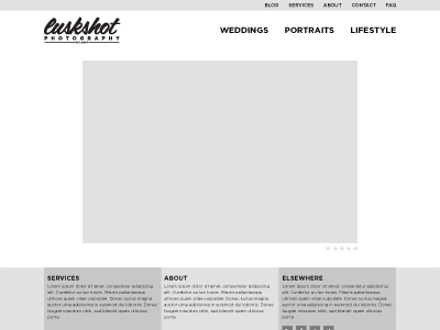 luskSHOT Photography (2013) wireframe web site