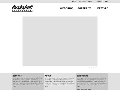 luskSHOT Photography (2013) wireframe web site