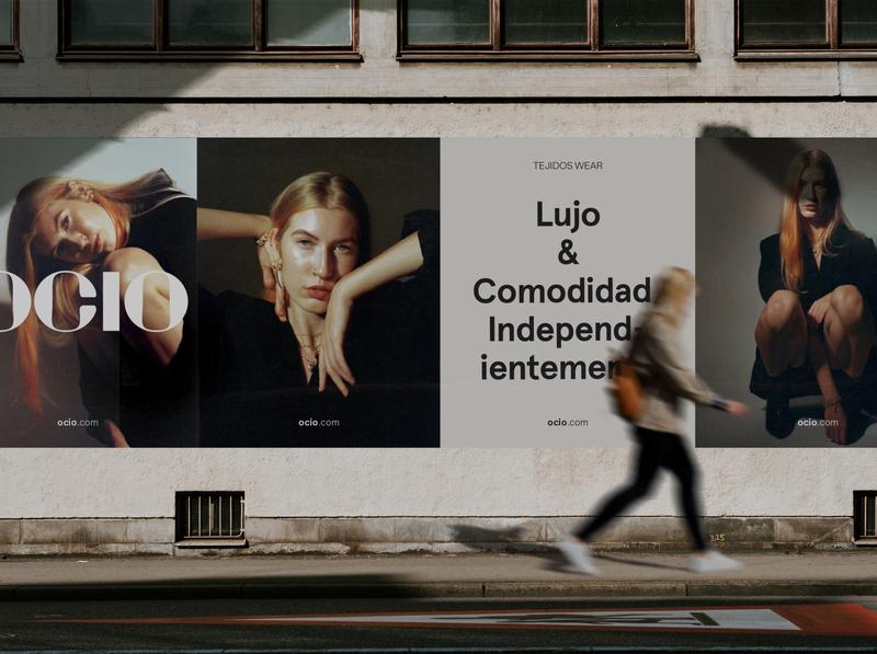 Ocio Branding typography logo adobe illustrator adobe photoshop photography branding graphic design design modern minimal