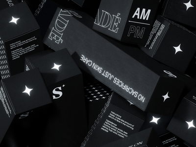 SADE SKINCARE identity typography product design adobe photoshop photography branding graphic design design modern minimal