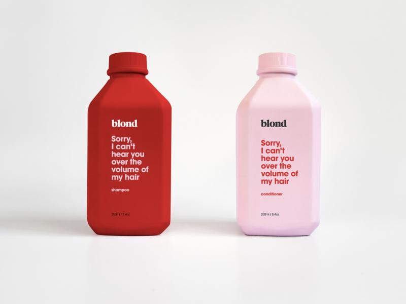 blond studio branding product design minimal modern design salon