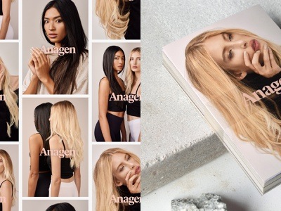 Anagen Atelier Brand Print Collateral print design print beauty salon typography logo adobe illustrator adobe photoshop photography graphic design design modern minimal identity branding